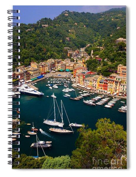 Spiral Notebook featuring the photograph Portofino by Brian Jannsen
