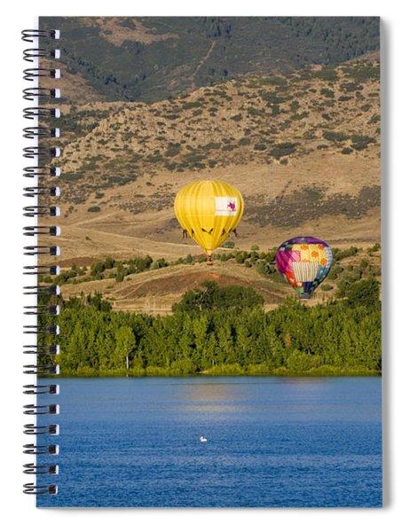 Rocky Mountain Balloon Festival Spiral Notebook