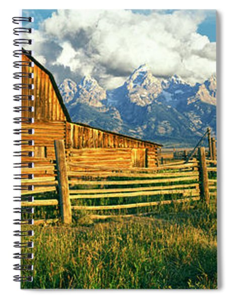 Sunrise Over The Moulton Barn Spiral Notebook