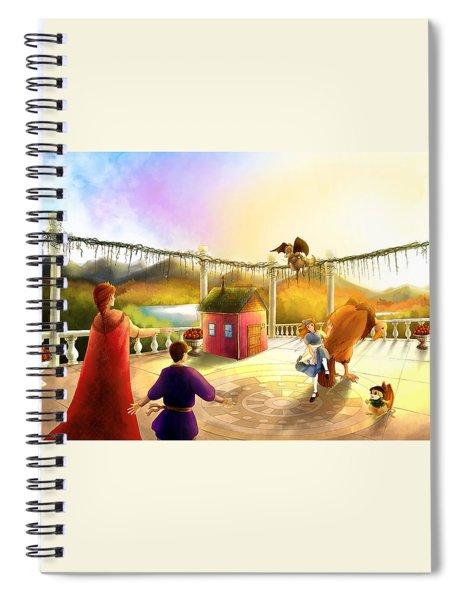 The Palace Balcony Spiral Notebook