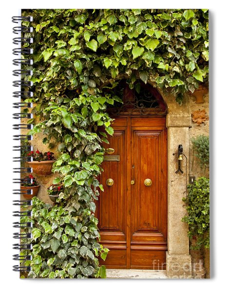 Spiral Notebook featuring the photograph Tuscan Door by Brian Jannsen