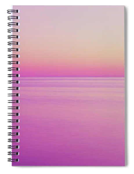 View Of Ocean At Sunset, Cape Cod Spiral Notebook