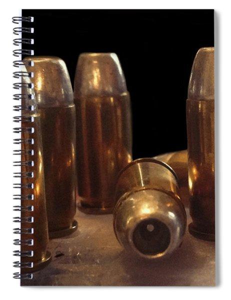 Bullet Art 32 Caliber Bullets 3514 Spiral Notebook