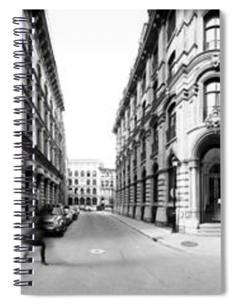 360 Degree View Of A City, Montreal Spiral Notebook