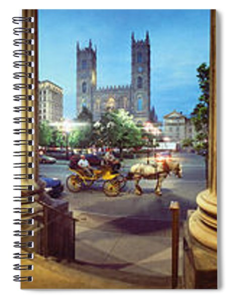 360 Degree View Of The Notre Dame De Spiral Notebook