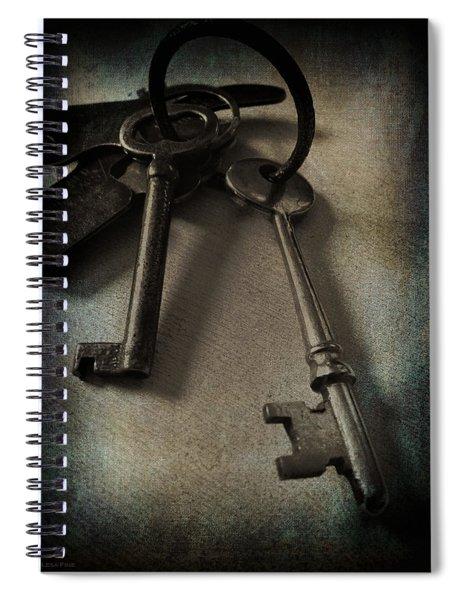 Vintage Keys Vignette Spiral Notebook