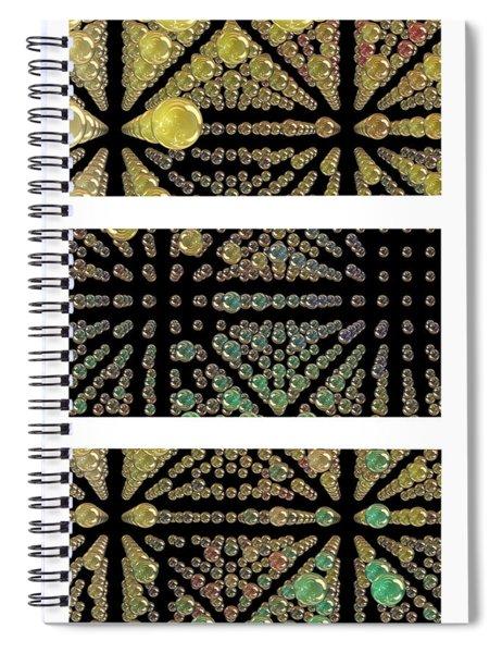 3d Spheres Spiral Notebook