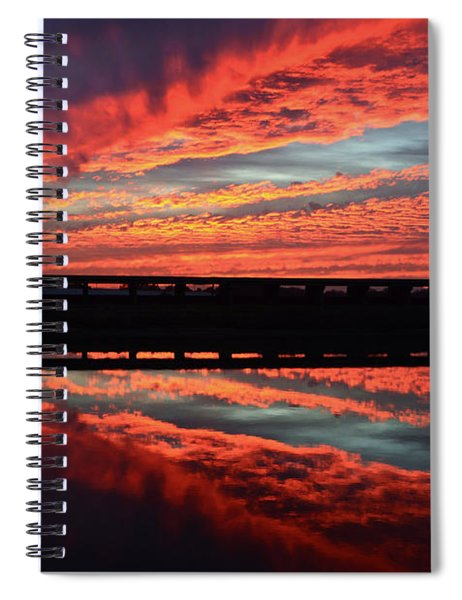 3d Sunset Spiral Notebook