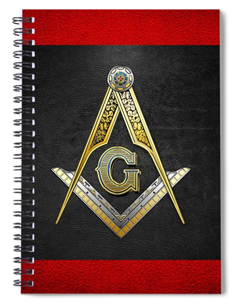 3rd Degree Mason - Master Mason Masonic Jewel  Spiral Notebook