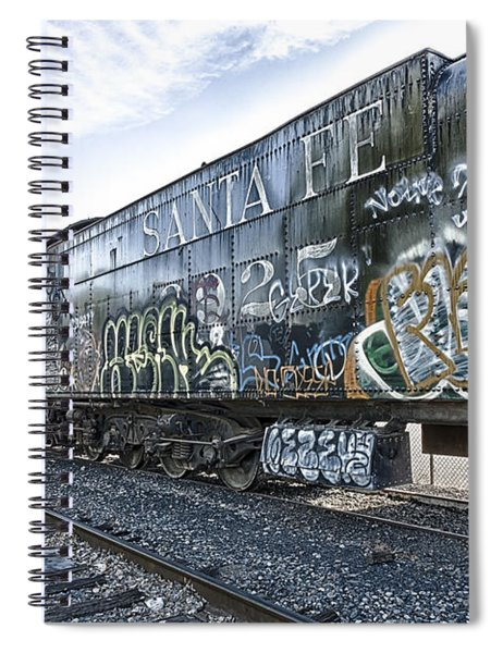 Spiral Notebook featuring the photograph 4 8 4 Atsf 2925 In Repose by Jim Thompson