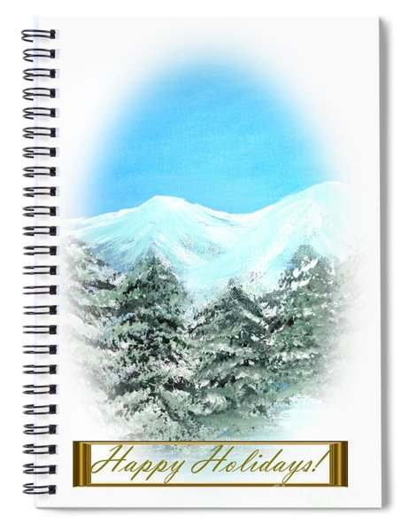 Happy Holidays. Best Christmas Gift Spiral Notebook