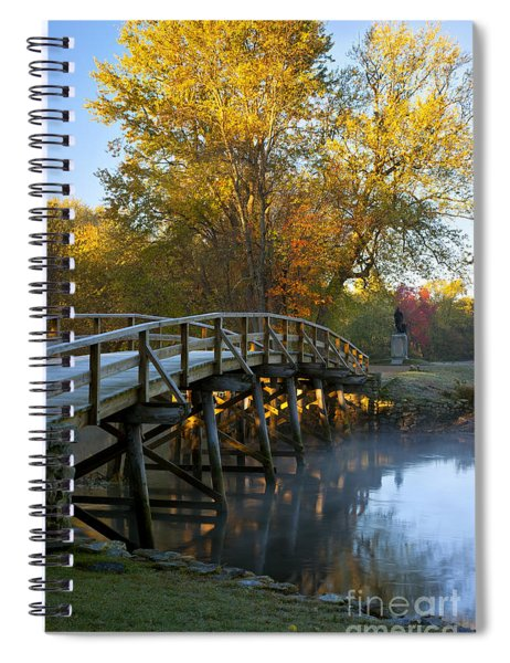 Spiral Notebook featuring the photograph Old North Bridge Concord by Brian Jannsen