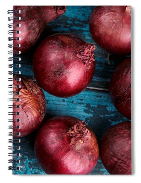 Red Onions Spiral Notebook by Nailia Schwarz
