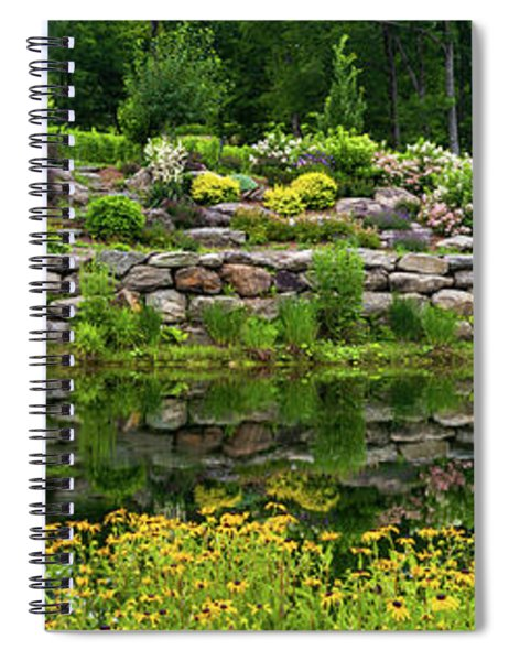 Rocks And Plants In Rock Garden Spiral Notebook