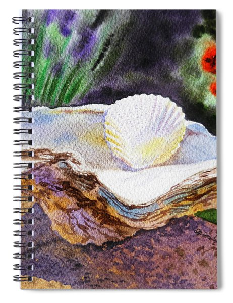 Sea Shell And Pearls Morning Light Spiral Notebook