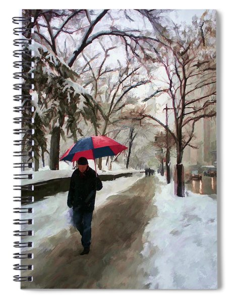 Snowfall In Central Park Spiral Notebook