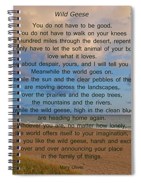 40- Wild Geese Mary Oliver Spiral Notebook
