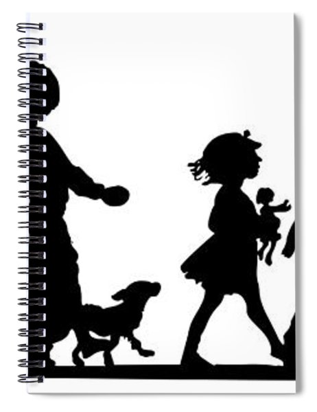 4th Of July Childrens Parade Panorama Spiral Notebook