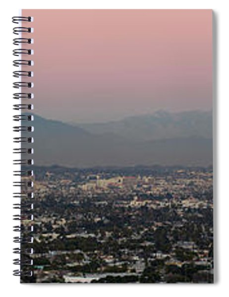Elevated View Of Buildings In City Spiral Notebook