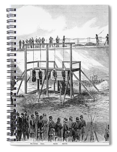Execution Of Conspirators Spiral Notebook