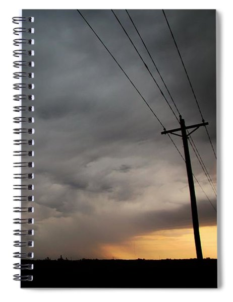 Spiral Notebook featuring the photograph Let The Storm Season Begin by NebraskaSC