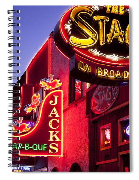 Spiral Notebook featuring the photograph Music City Usa by Brian Jannsen