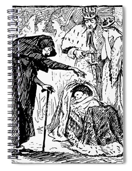 Perrault Sleeping Beauty Spiral Notebook