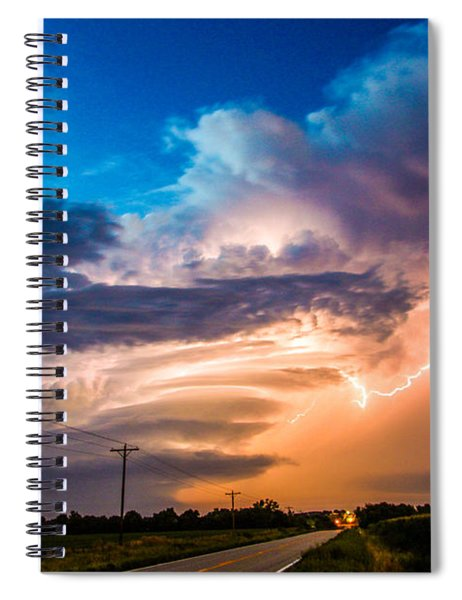 Spiral Notebook featuring the photograph Wicked Good Nebraska Supercell by NebraskaSC