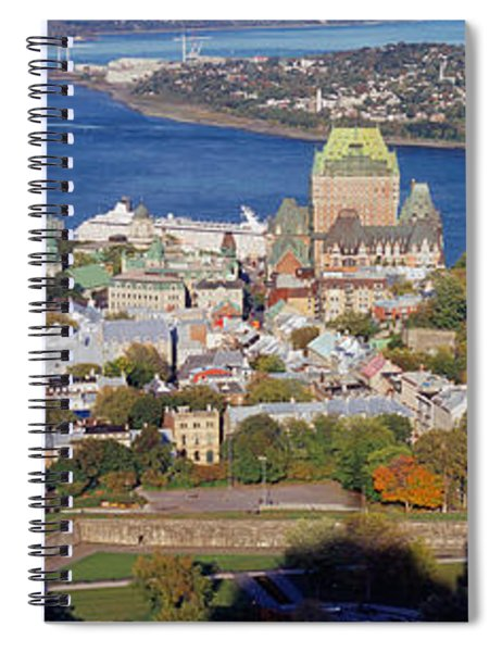 High Angle View Of Buildings In A City Spiral Notebook