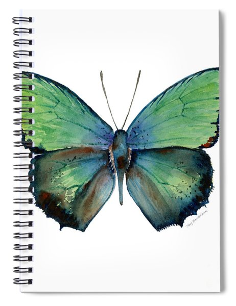 52 Arhopala Aurea Butterfly Spiral Notebook