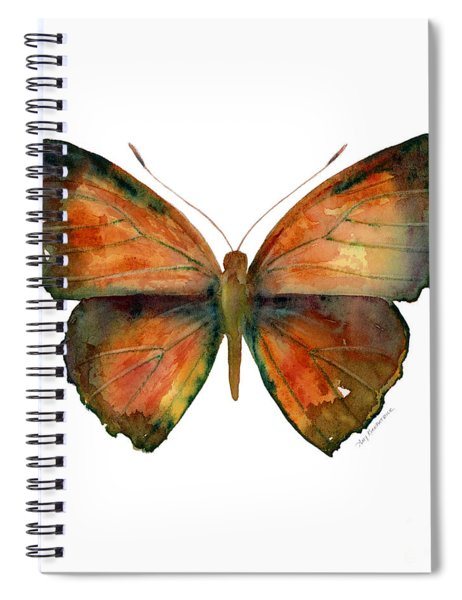 56 Copper Jewel Butterfly Spiral Notebook