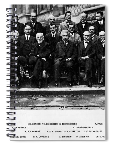 5th Solvay Conference Of 1927 Spiral Notebook