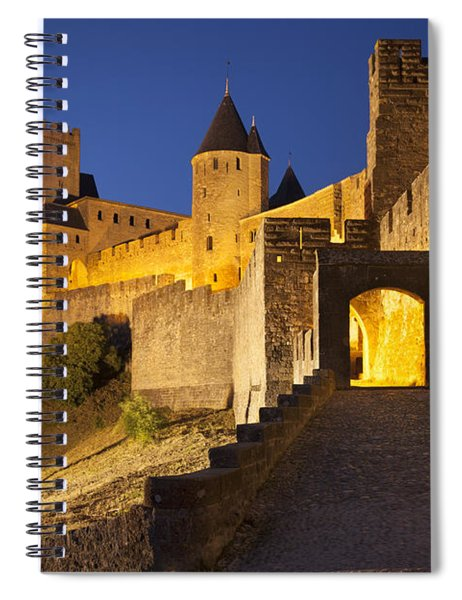 Spiral Notebook featuring the photograph Medieval Carcassonne by Brian Jannsen