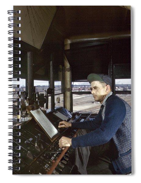 Railroad Worker, 1943 Spiral Notebook