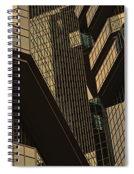 Skyscraper Windows Background In Hong Kong  Spiral Notebook