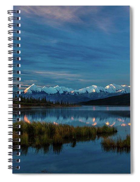 Panoramic View Of Mount Denali Spiral Notebook