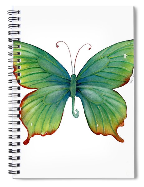 74 Green Flame Tip Butterfly Spiral Notebook