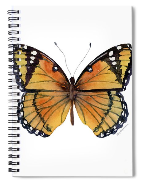 76 Viceroy Butterfly Spiral Notebook