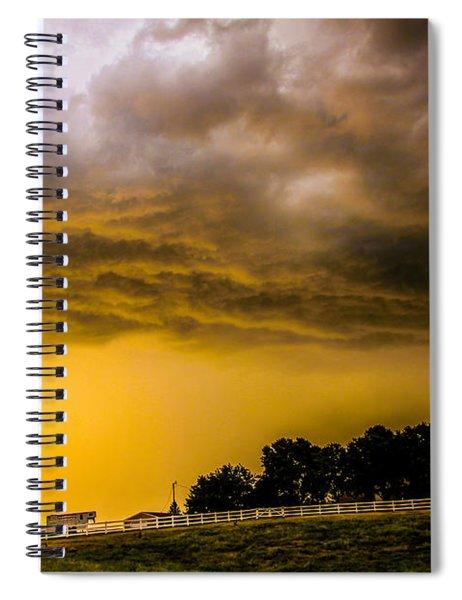 Late Afternoon Nebraska Thunderstorms Spiral Notebook