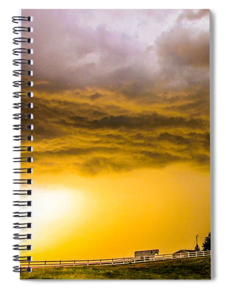 Spiral Notebook featuring the photograph Late Afternoon Nebraska Thunderstorms by NebraskaSC