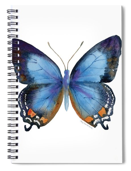 80 Imperial Blue Butterfly Spiral Notebook
