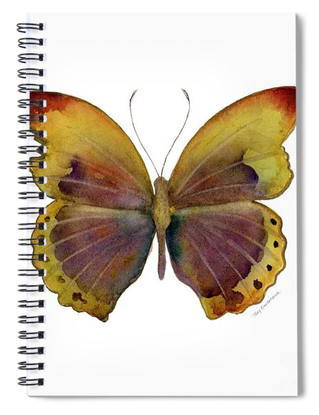 84 Gold-banded Glider Butterfly Spiral Notebook