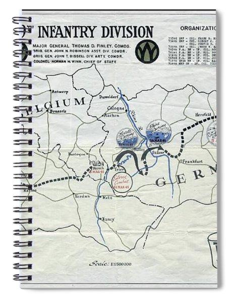 89th Infantry Division World War I I Map Spiral Notebook