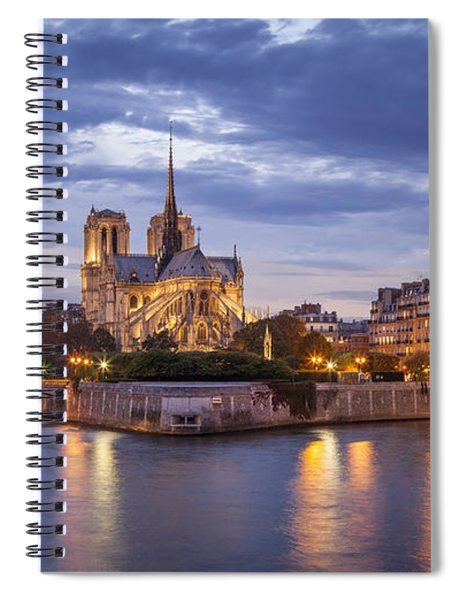 Cathedral Notre Dame Spiral Notebook by Brian Jannsen