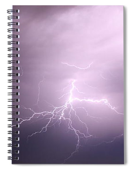 Spiral Notebook featuring the photograph Round 2 More Late Night Servere Nebraska Storms by NebraskaSC