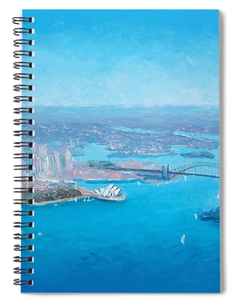 Sydney Harbour And The Opera House Aerial View  Spiral Notebook