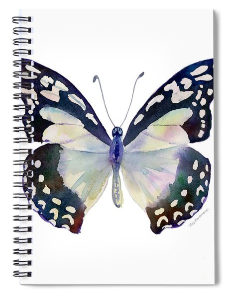 90 Angola White Lady Butterfly Spiral Notebook