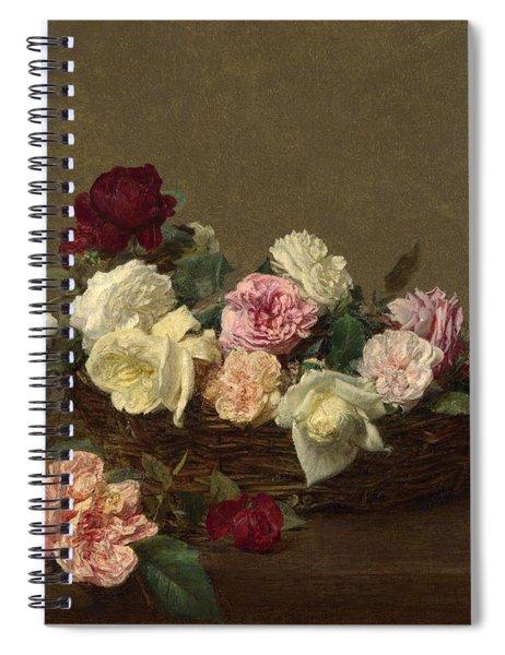A Basket Of Roses Spiral Notebook
