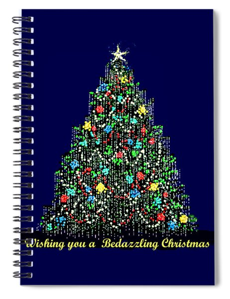 A Bedazzling Christmas Spiral Notebook