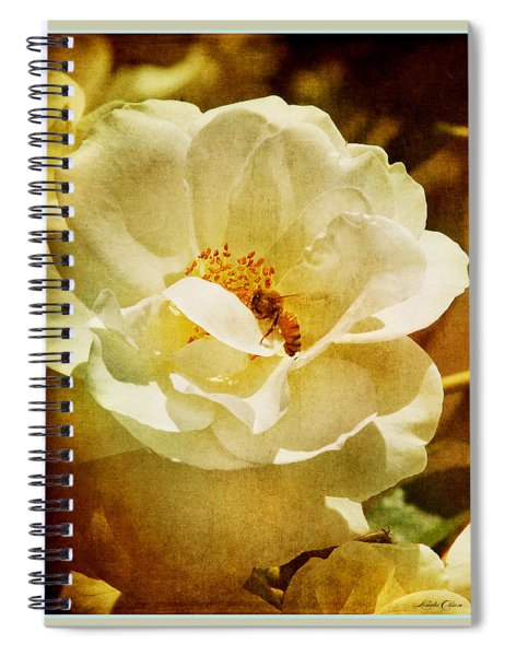 A Bee And Rose Spiral Notebook